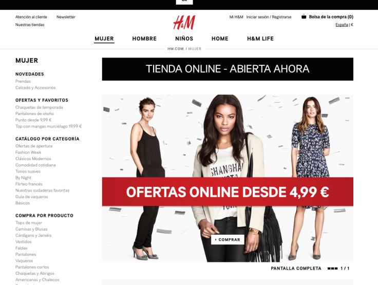 H & M online